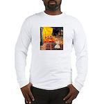 Cafe / Scottie (w) Long Sleeve T-Shirt