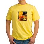 Cafe / Scottie (w) Yellow T-Shirt