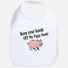 Hands Off Piggy Bank Bib