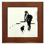 Barack Obama + Bo Running Framed Tile