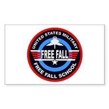 Military Free Fall Rectangle Decal