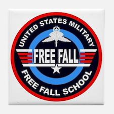 Military Free Fall Tile Coaster