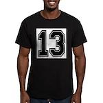 13 Men's Fitted T-Shirt (dark)