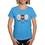 Peace Love Tofu Women's Dark T-Shirt