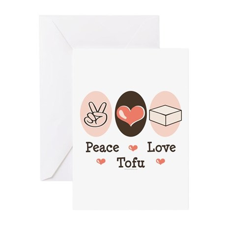 Peace Love Tofu Greeting Cards (Pk of 10)