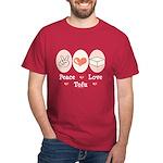 Peace Love Tofu Dark T-Shirt