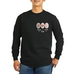 Peace Love Tofu Long Sleeve Dark T-Shirt