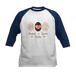 Peace Love Tofu Kids Baseball Jersey