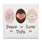 Peace Love Tofu Tile Coaster