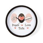 Peace Love Tofu Wall Clock