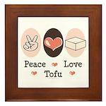 Peace Love Tofu Framed Tile