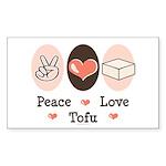 Peace Love Tofu Rectangle Sticker 50 pk)