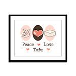 Peace Love Tofu Framed Panel Print