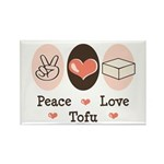 Peace Love Tofu Rectangle Magnet (100 pack)