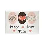 Peace Love Tofu Rectangle Magnet (10 pack)
