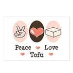 Peace Love Tofu Postcards (Package of 8)