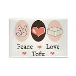 Peace Love Tofu Rectangle Magnet