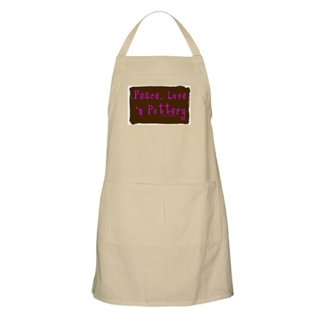 Girl Love Peace n Pottery BBQ Apron