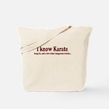 I Know Karate Tote Bag