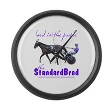 Bred in the Purple Large Wall Clock