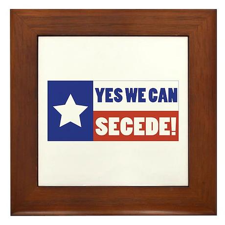 Texas Secede Framed Tile