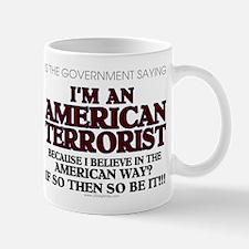American Terrorist American W Mug