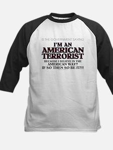 American Terrorist American W Kids Baseball Jersey
