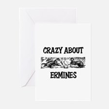 Crazy About Ermines Greeting Cards (Pk of 10)