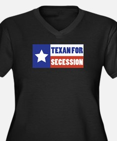 Texan for Secession Women's Plus Size V-Neck Dark