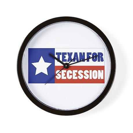 Texan for Secession Wall Clock