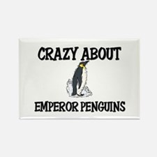 Crazy About Emperor Penguins Rectangle Magnet