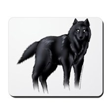 Black Wolf Mousepad