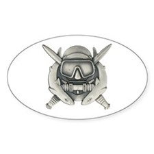 Combat Diver Oval Decal