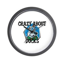Crazy About Ducks Wall Clock