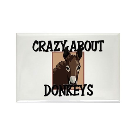 Crazy About Donkeys Rectangle Magnet (10 pack)
