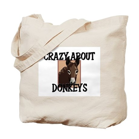 Crazy About Donkeys Tote Bag