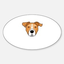 Caricature 2 Oval Decal
