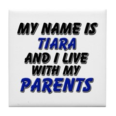 my name is tiara and I live with my parents Tile C