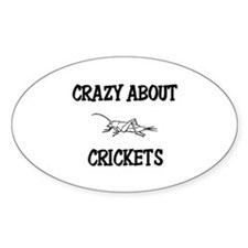 Crazy About Crickets Oval Decal