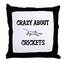 Crazy About Crickets Throw Pillow