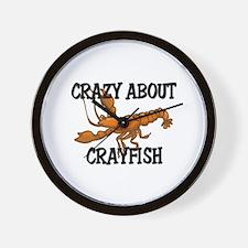 Crazy About Crayfish Wall Clock