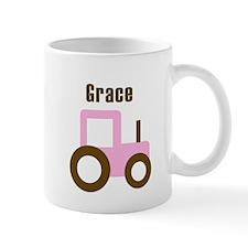 Grace - Pink Tractor Mug