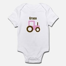 Grace - Pink Tractor Infant Bodysuit