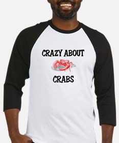 Crazy About Crabs Baseball Jersey