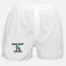 Crazy About Coyotes Boxer Shorts