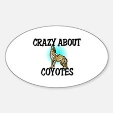 Crazy About Coyotes Oval Decal