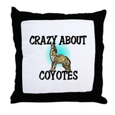 Crazy About Coyotes Throw Pillow