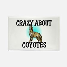 Crazy About Coyotes Rectangle Magnet