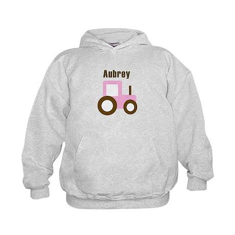 Aubrey - Pink Tractor Kids Hoodie