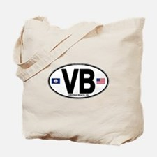 Virginia Beach VB Oval Tote Bag